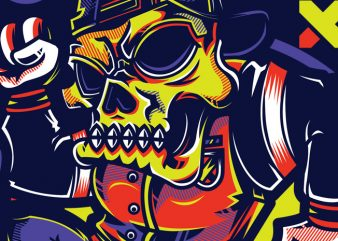 SWG Urban Skull part 2 vector t-shirt design template