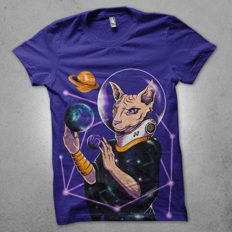 galacticat t shirt design png