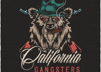 California gangsters t shirt vector file