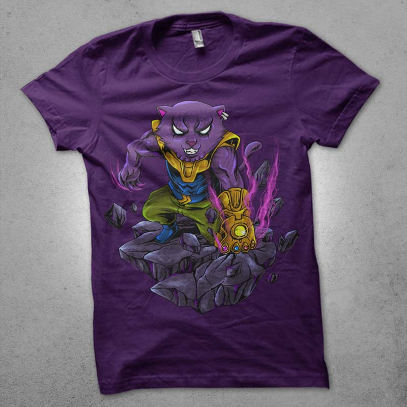 mad cat tshirt design for sale
