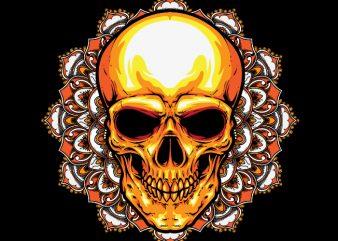 Mandala Skull t shirt design for purchase