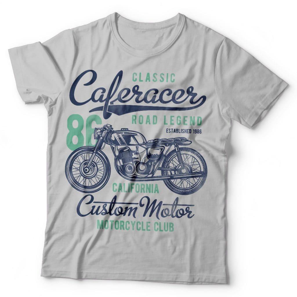 Caferacer tshirt designs for merch by amazon