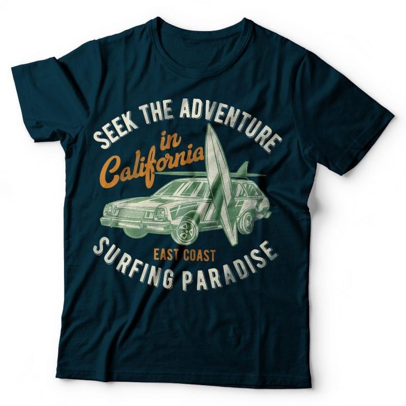 Surfing paradise buy t shirt design