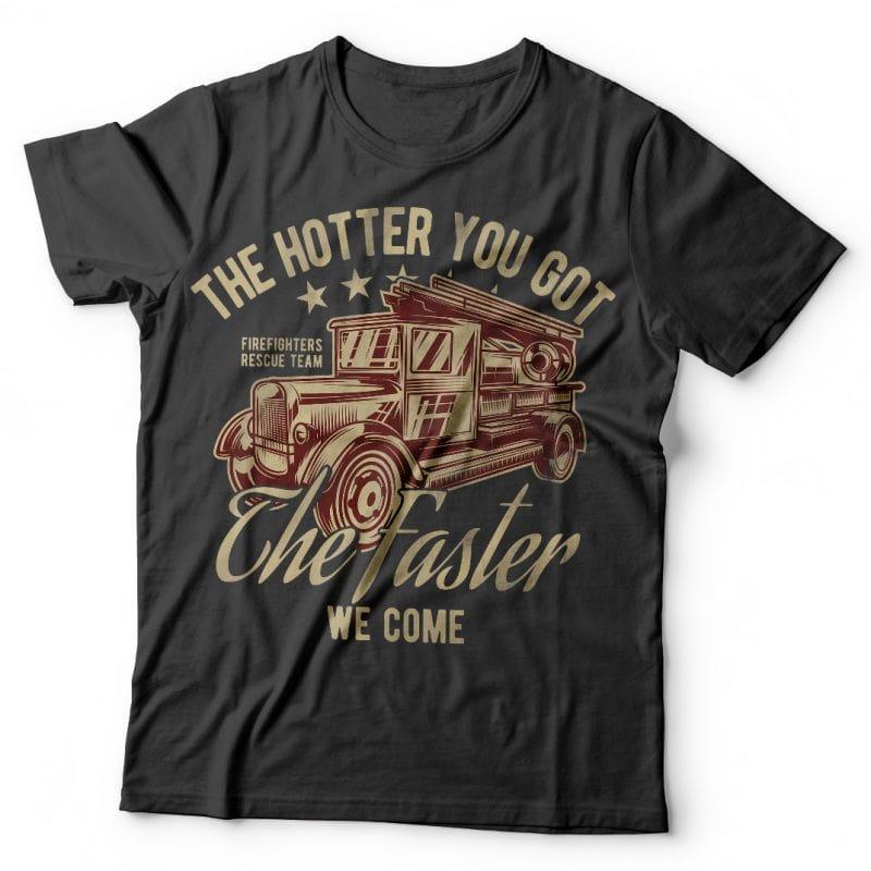 Firetruck tshirt factory
