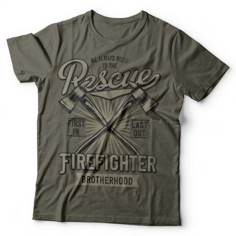 Firefighter t-shirt designs for merch by amazon