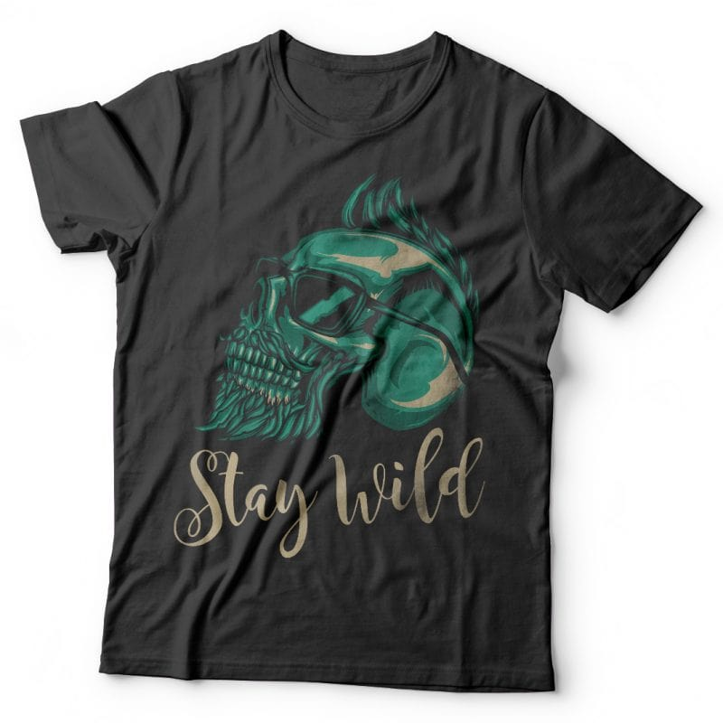 Stay wild t-shirt designs for merch by amazon