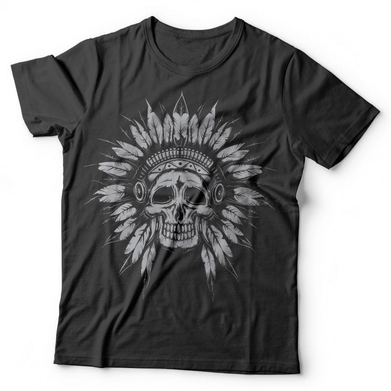 Indian chief tshirt designs for merch by amazon