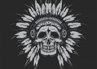 Indian chief t shirt design for sale