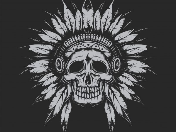 Indian chief vector t shirt design for download