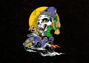 sir skully t shirt design to buy