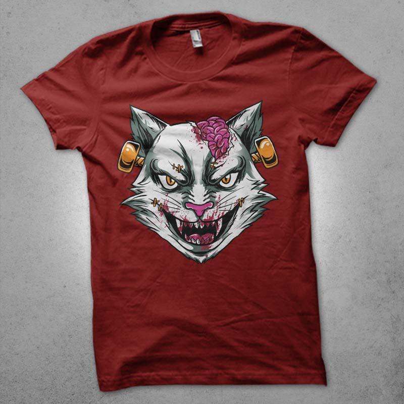 zombie stein head t shirt design png