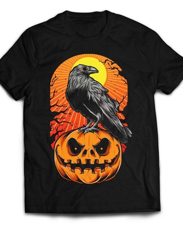 Crow Halloween tshirt factory