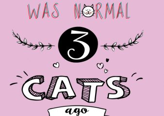 3 cats ago t shirt design for sale