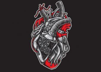 Heart Machine vector t-shirt design