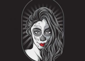 La Muerte t shirt vector graphic