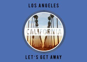 California Circle t shirt vector file
