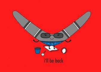 Boomerang vector t-shirt design template