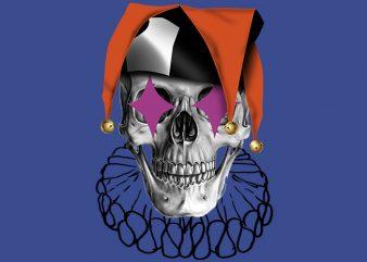 Skull Jester t shirt template vector