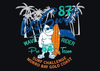 Gorilla Surf t shirt design template