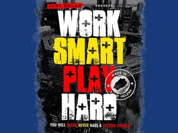 Work Smart Play Hard t shirt design for sale