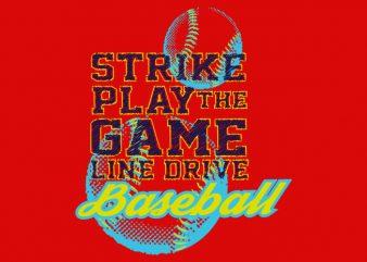 Baseball t shirt design for sale