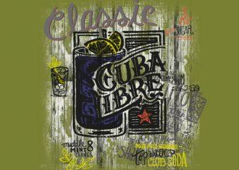 Cuba Libre t shirt vector file