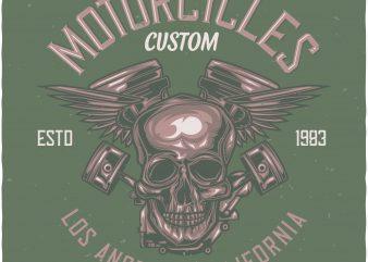 Custom motorcycles print ready shirt design