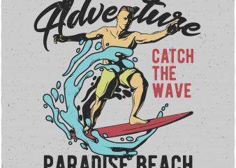 Summer adventure vector t shirt design artwork