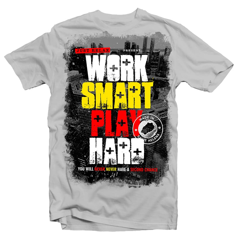 Work Smart Play Hard t-shirt designs for merch by amazon
