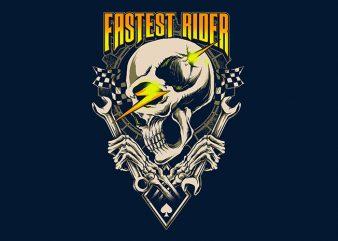 fastest rider t shirt graphic design
