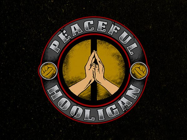 peaceful hooligan vector t-shirt design for commercial use