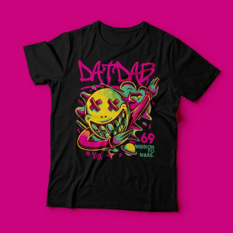 Dat Dab t shirt designs for merch teespring and printful