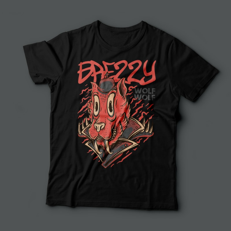 Brezzy t shirt designs for merch teespring and printful