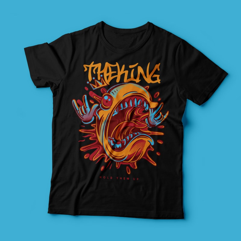 The King t shirt designs for print on demand