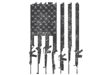 American flag rifles t shirt design for purchase