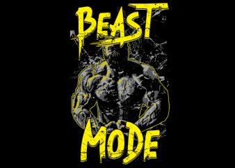 Beast Mode t shirt template