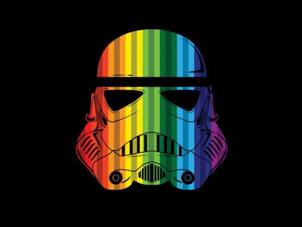Rainbow Troopers vector t-shirt design