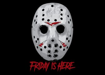 jason mask tshirt design for sale