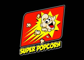 super popcorn t shirt design for sale