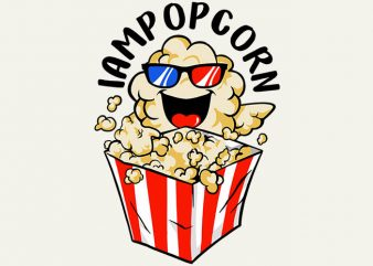 love popcorn t shirt vector graphic