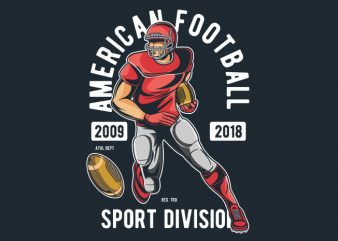 American Football vector t-shirt design for commercial use