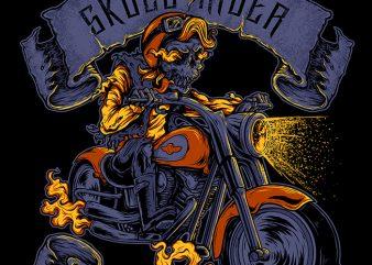 Skull Rider t shirt design for purchase