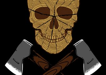 Skull Wood shirt design png
