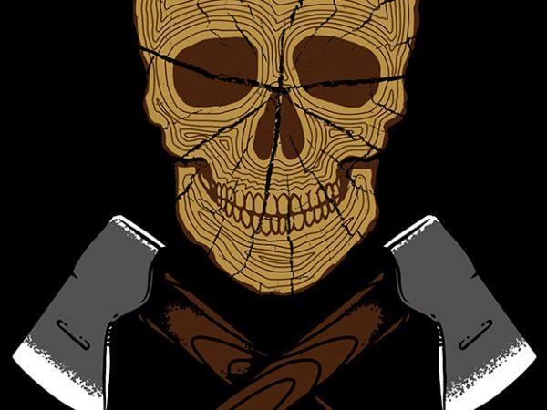 Skull Wood shirt design png