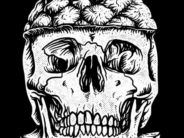Skull Pineapple t shirt design for purchase