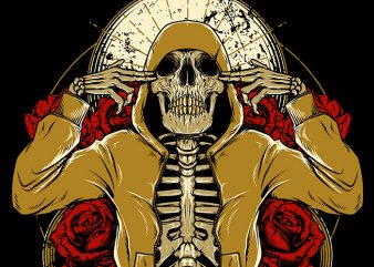 Hip Hop and Roses commercial use t-shirt design