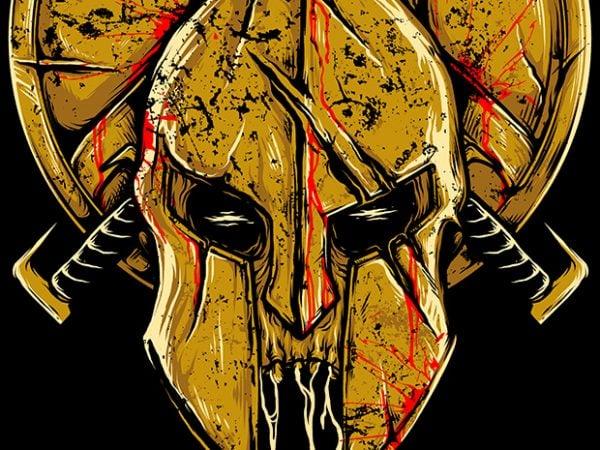 Skull Spartan design for t shirt