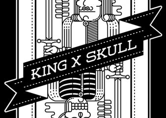 King and Skull buy t shirt design artwork