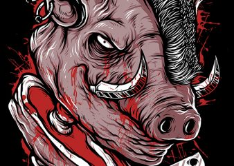 Pig Saw t shirt illustration