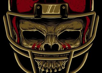American Football Skull shirt design png